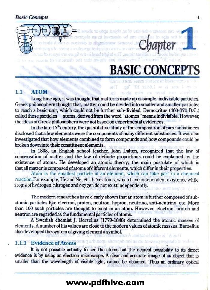 Chemistry 11 Textbook FSc Part-1 - PDF Hive