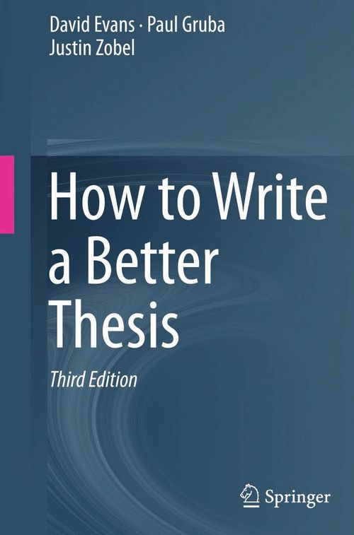 Publish phd thesis springer
