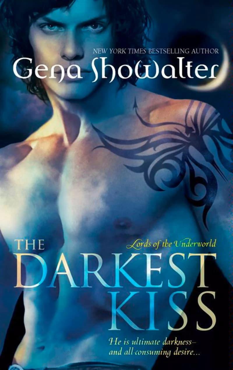 The Darkest Kiss is one of best novel series by Gena Showalter, gena showalter books, gena showalter series, books by gena showalter, Lords of the Underworld, book 2