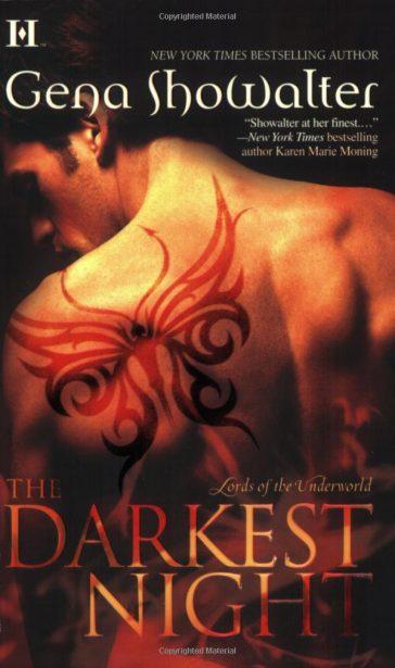 The Darkest Night is one of best novel series by Gena Showalter, gena showalter books, gena showalter series, books by gena showalter, Lords of the Underworld