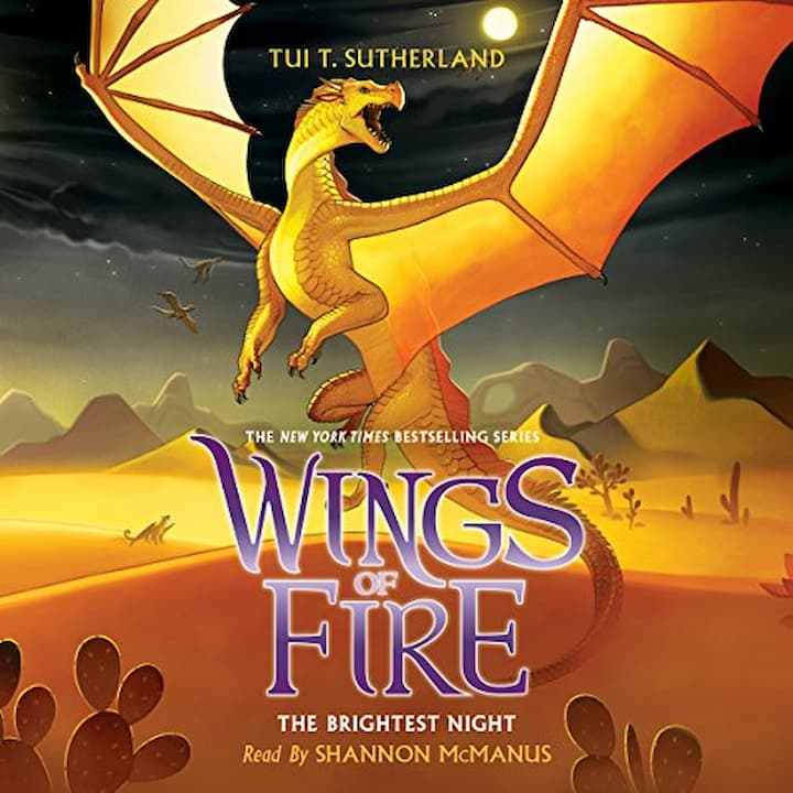 The Brightest Night audible - Wings of Fire Book 5